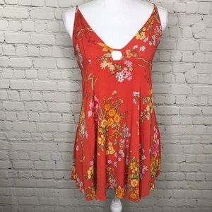 Lulus Orange/Red Blouse